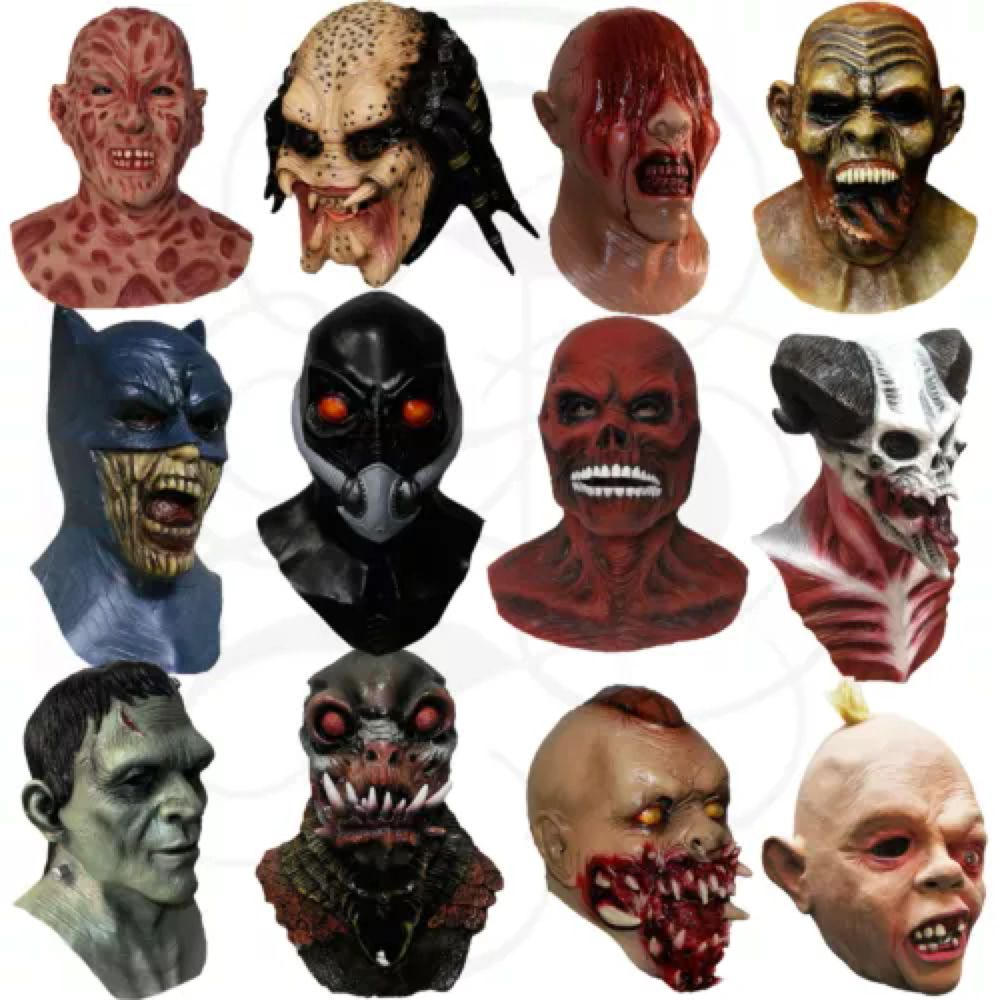Pin on Latex Halloween Masks