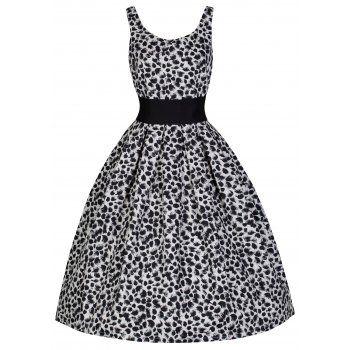 Lana White Black Swing Dress | Vintage Inspired Fashion - Lindy Bop