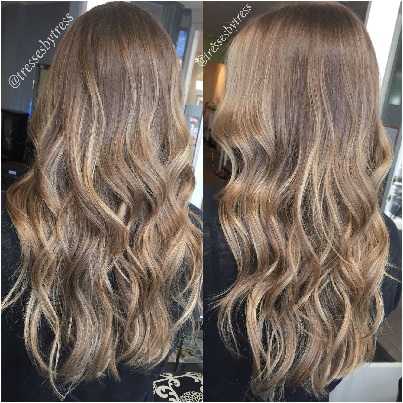 Natural Soft Blonde Balayaged Highlights On Dark Blonde Light