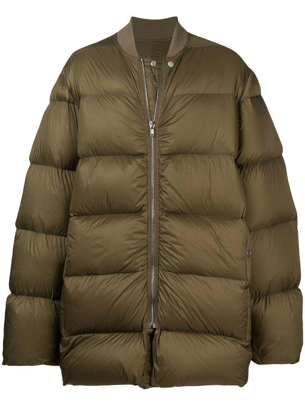 Rick Owens Oversized Puffer Jacket Green Modesens Green Jacket Oversized Puffer Jacket Jackets [ 1334 x 1000 Pixel ]