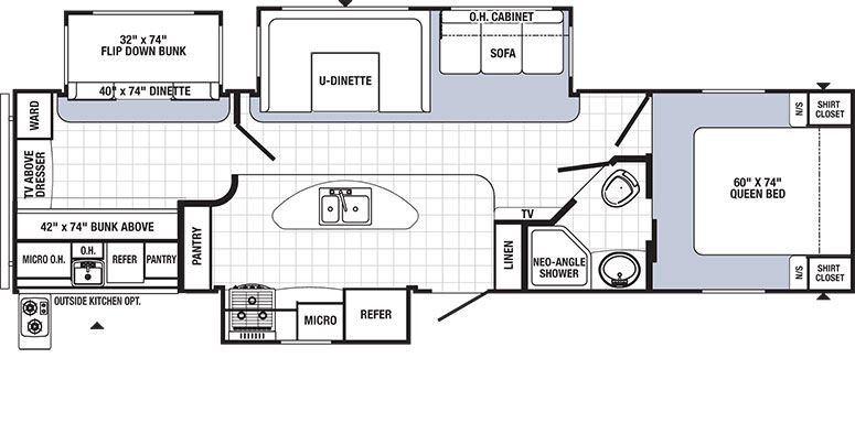 Bunkhouse travel trailer floor plans gurus floor Bunkhouse floor plans
