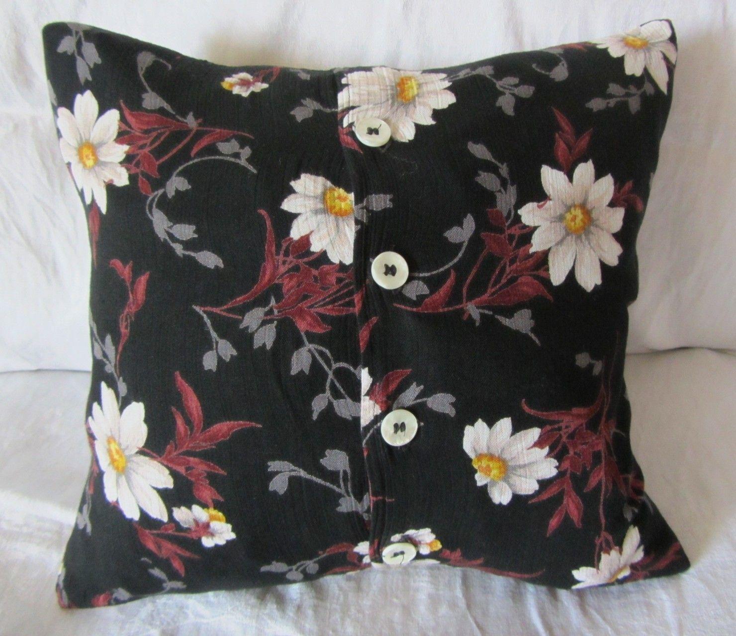 Upcycled skirt ue black sofa cushion with flowers lauthmou 오피스