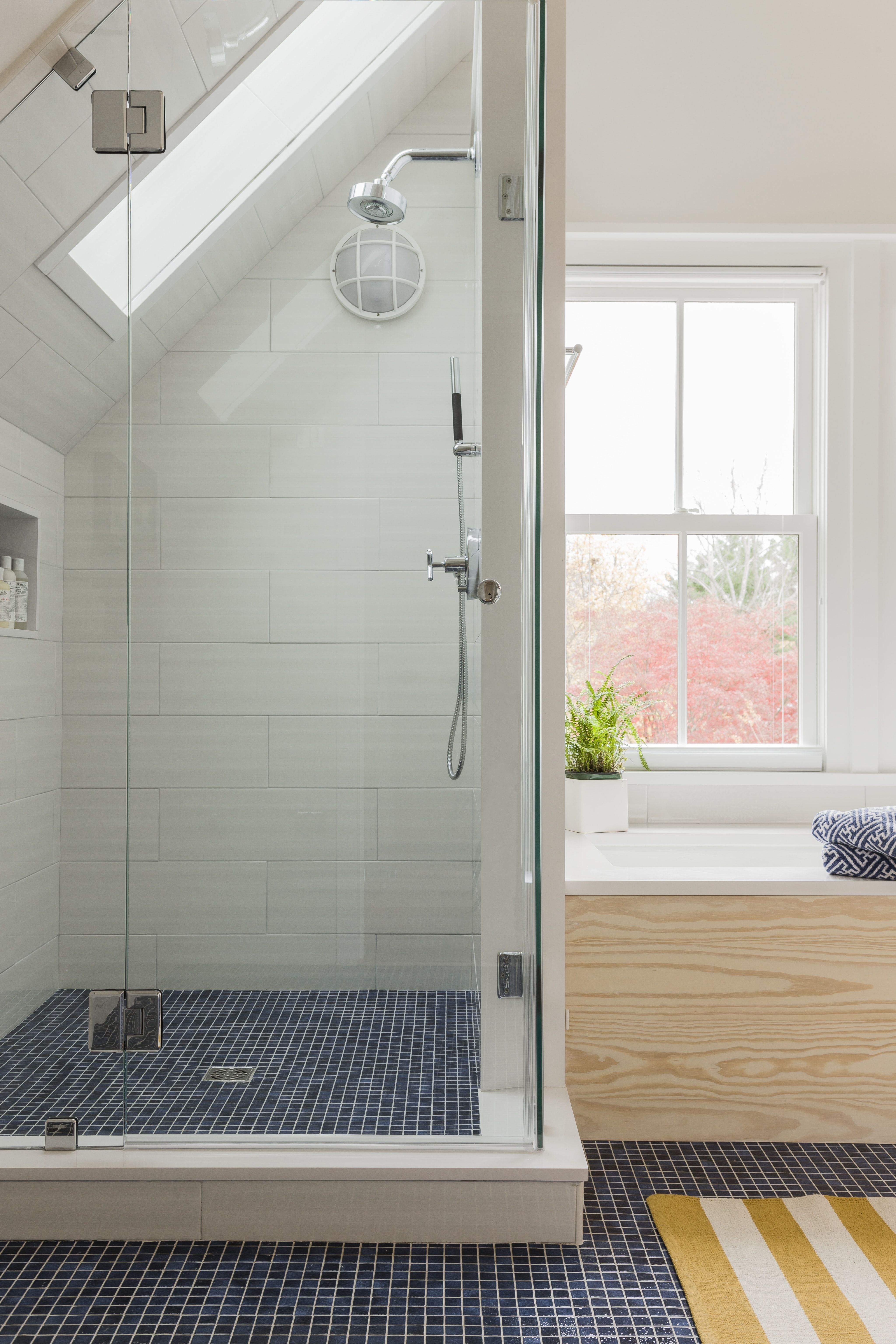 Pin By Lindsey Stevenson On Princeton Manor Master In 2020 With Images Attic Bathroom Attic Shower Eclectic Bathroom