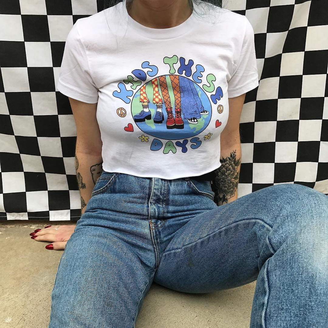 Kids These Days Crop Top and Mom Jeans available now in ...