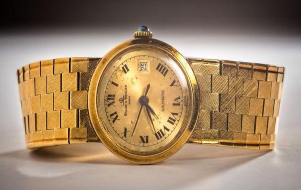 Baume Mercier Ladies Gold Watch Jewelry Accessories In Las