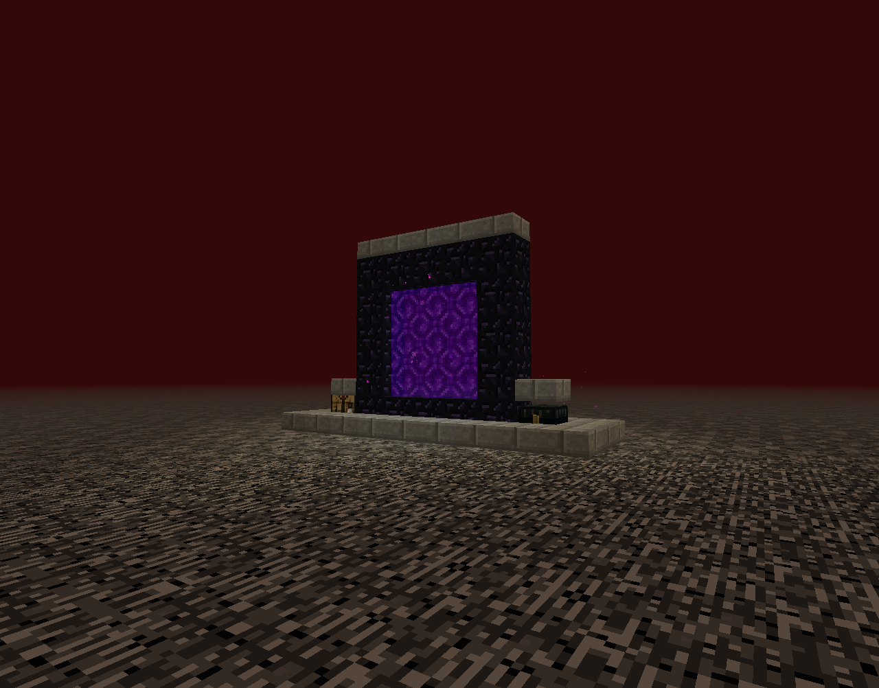 Superflat on top of the nether! #minecraft