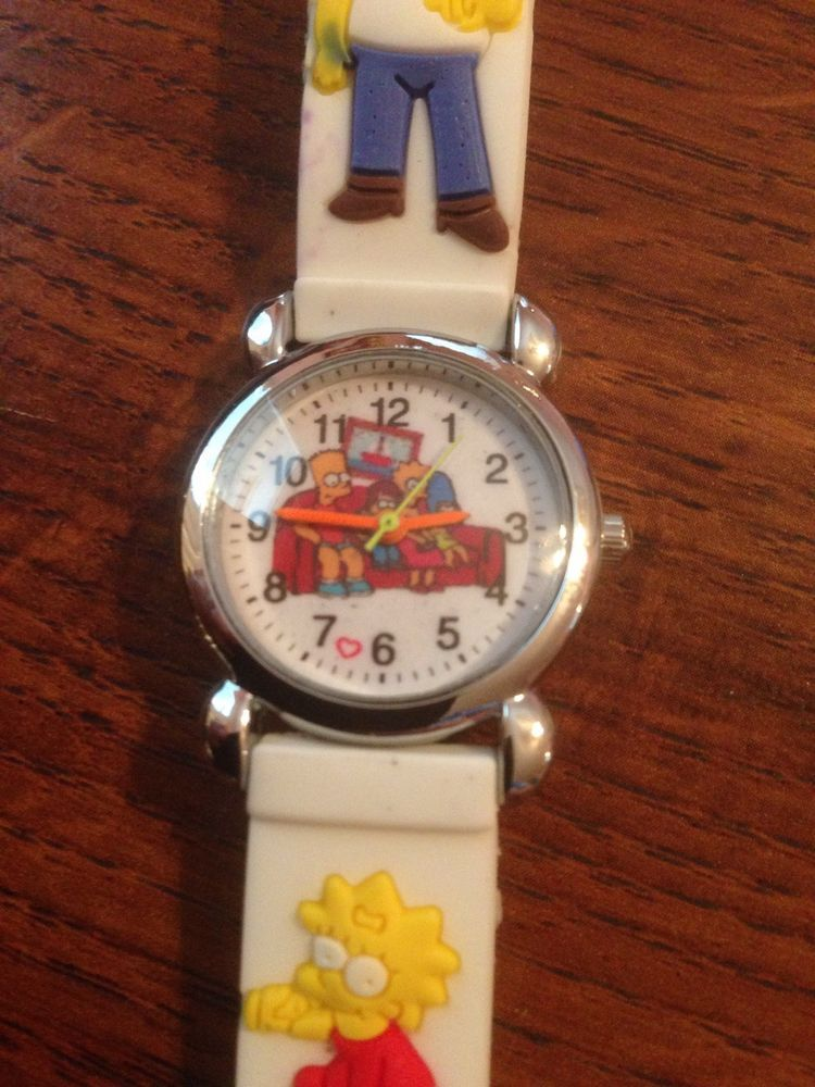 New White SIMPSONS Silicone Girls/Boys Watch 3-D #CartoonIdol