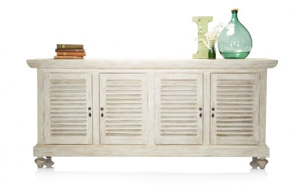 Dining Room Servers White coco republic carolina shuttered server - white wash | french