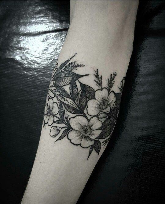 Floral Band Cuff Tattoo Arm Band Tattoo Arm Band Tattoo For Women