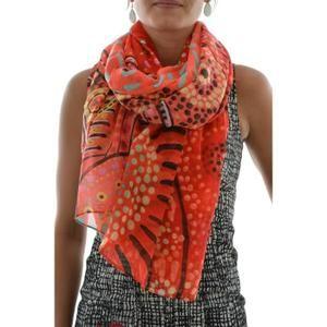 c343e5577ef1 foulards desigual 67w54a4 lluka rouge   cadeau Noël+anniv   Pinterest