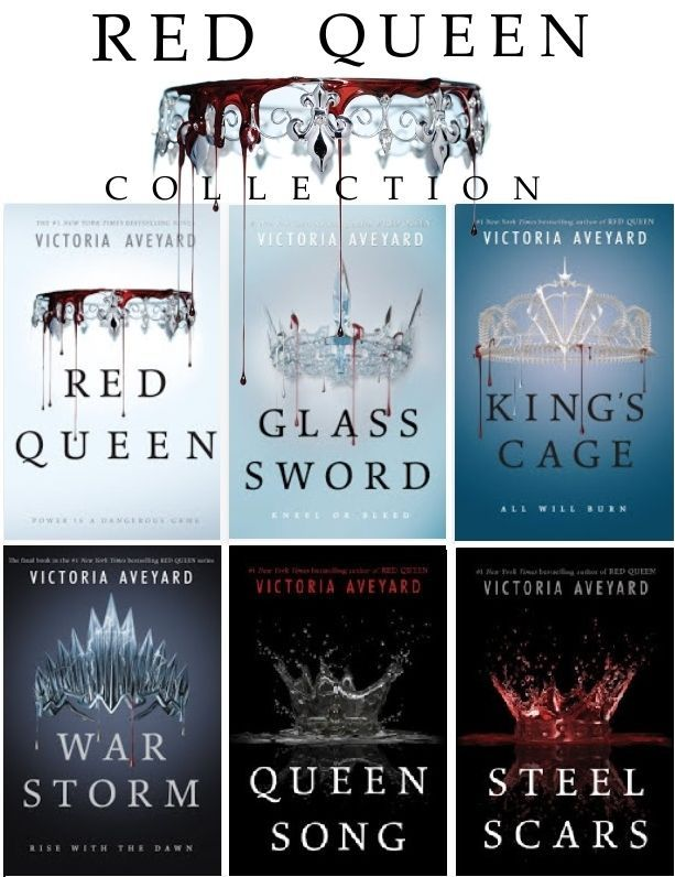 Red Queen Collection 1 6 War Storm King S Cage Glass Sword Red