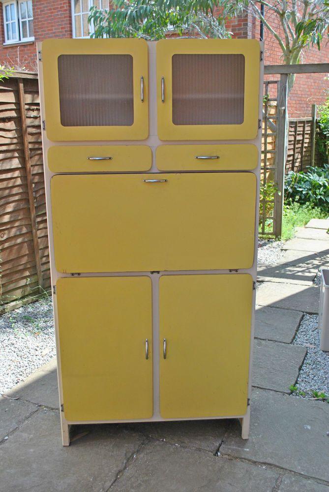 Vintage Retro 1950s Kitchen Cabinet Larder Cupboard 1960s