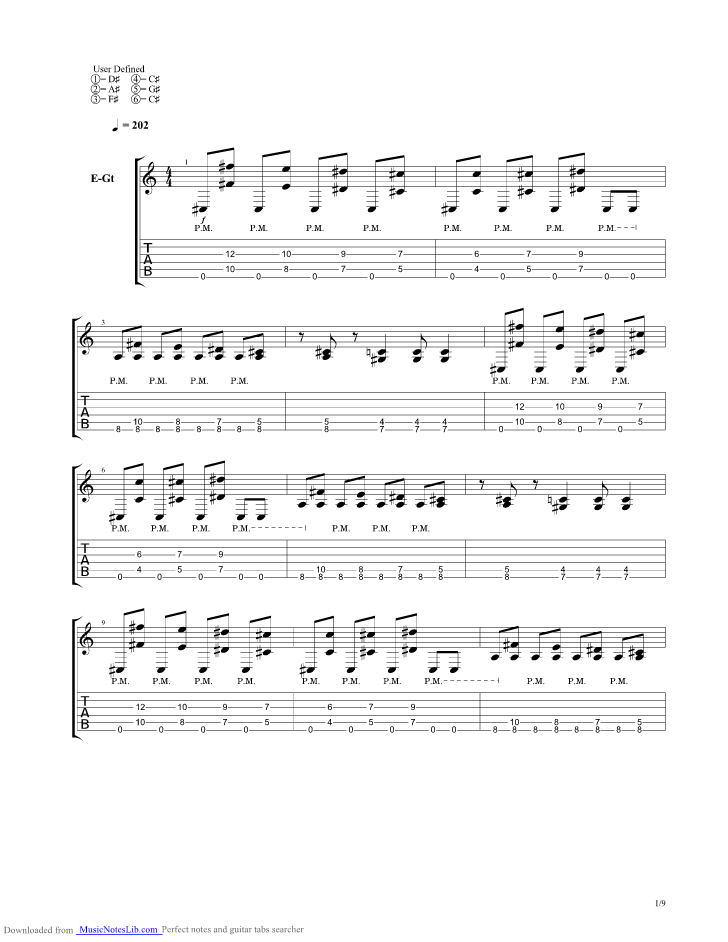 A Match Into Water Guitar Pro Tab By Pierce The Veil Musicnoteslib