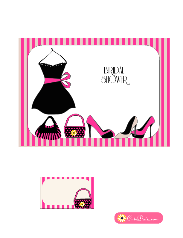 Free Bridal Shower Invitations Templates Little Black Dress Bridal Shower Invitation In Pink Color  Free .
