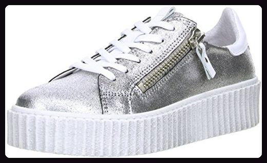 Damen Sneaker Plateau Silber, Größe:37, Farbe:Silber Online Shoes