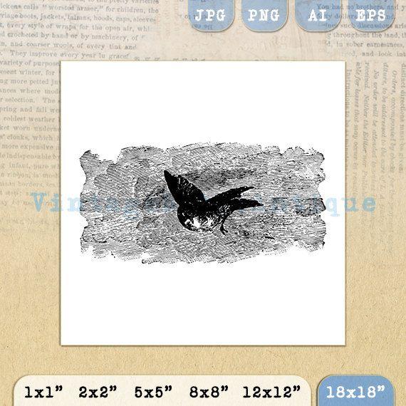 Printable Antique Bird Graphic Image by VintageRetroAntique