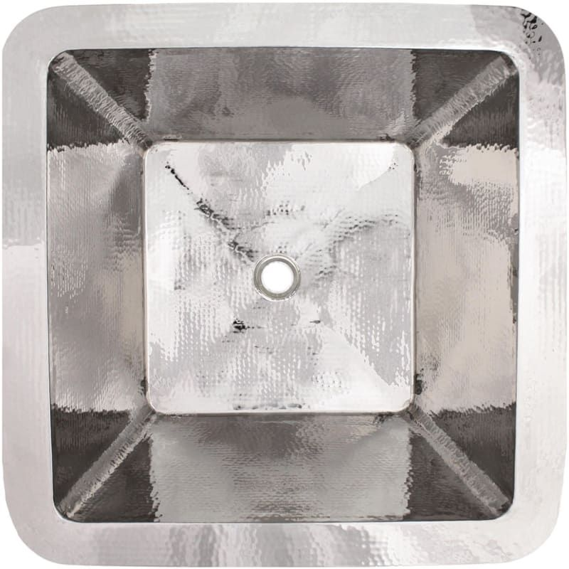"""Photo of Linkasink C007 Hammered Metals 20 """"Square Drop In or Undermount Sink Po …"""