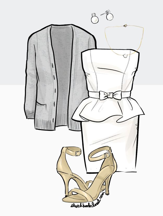 Lanvin bridal blanc inspired dress for our engagement party.