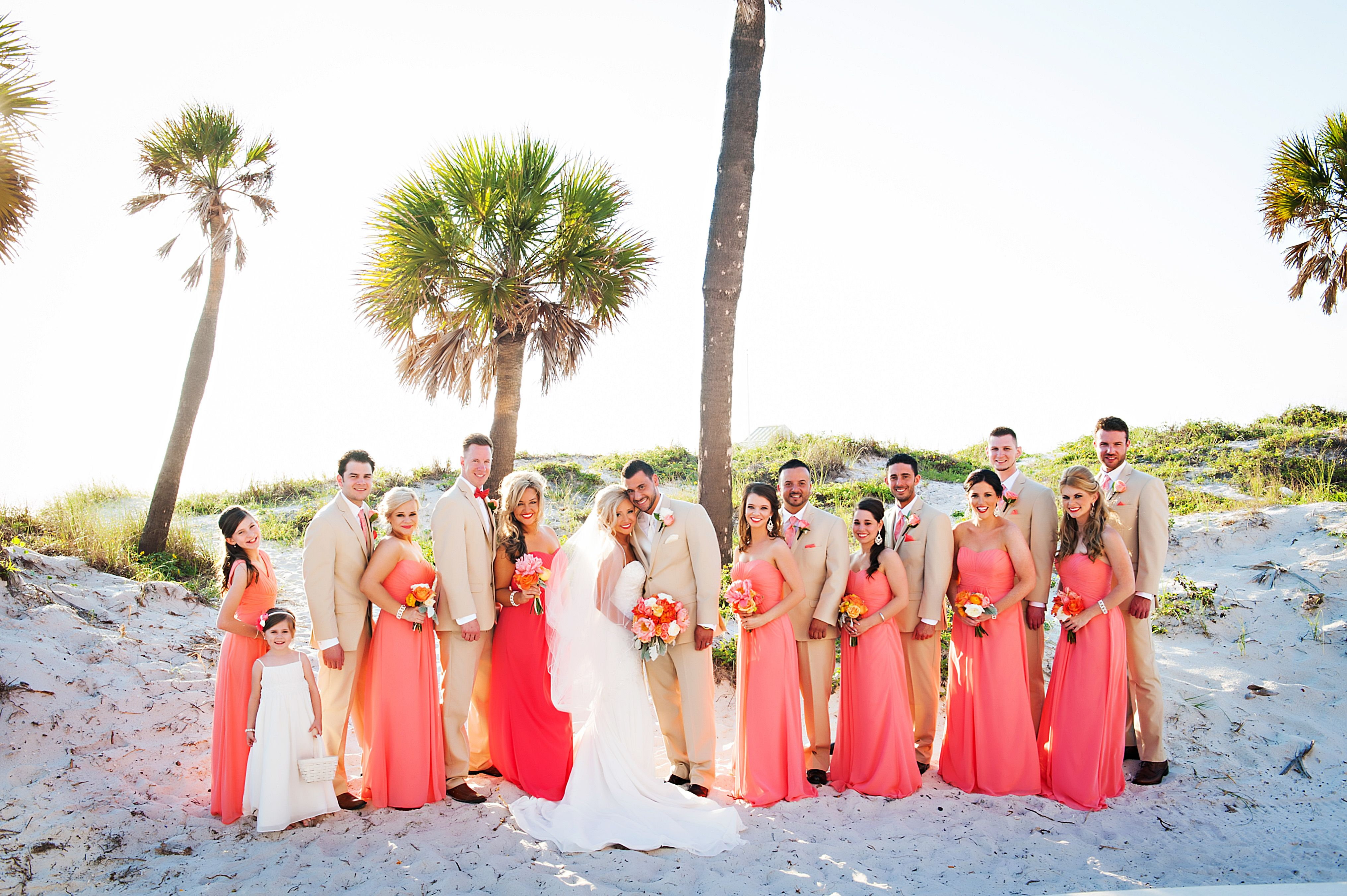 A Coral, White And Gold Wedding At Hyatt Regency