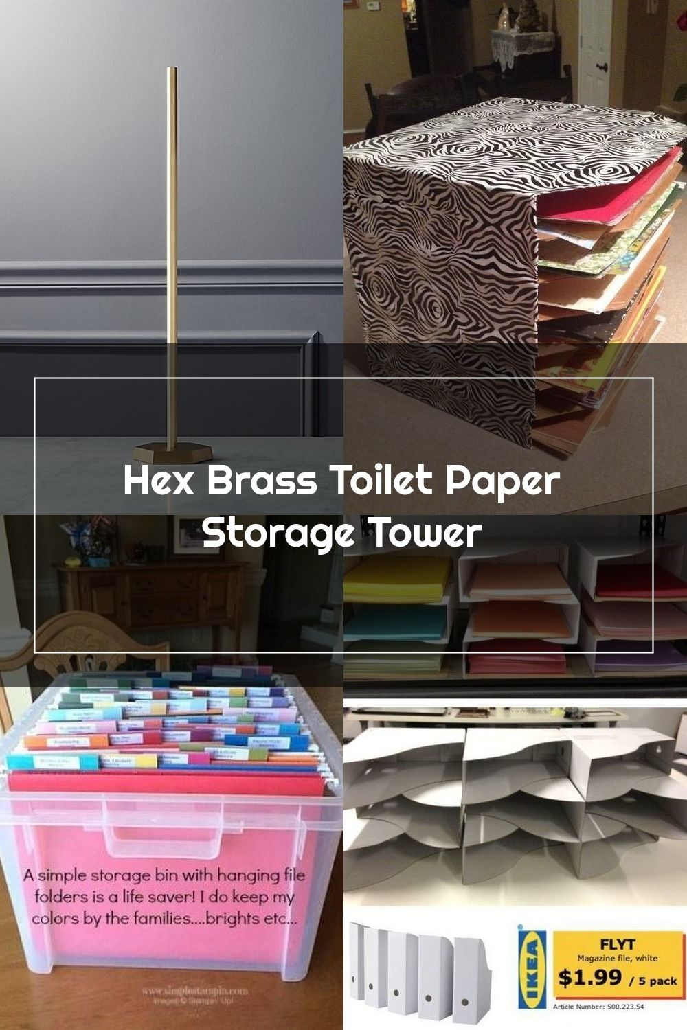 Hex Brass Toilet Paper Storage Tower In 2020 Paper Storage Toilet Paper Storage Storage Towers