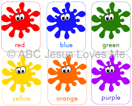 image about Printable Color Flashcards for Toddlers called Totally free ABC Jesus Enjoys Me Printable Coloration Flashcards