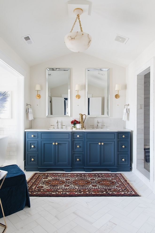 Navy Cabinet Newburyport Blue By Benjamin Moore Newburyportbluebybenjaminmoore Blue Bathroom
