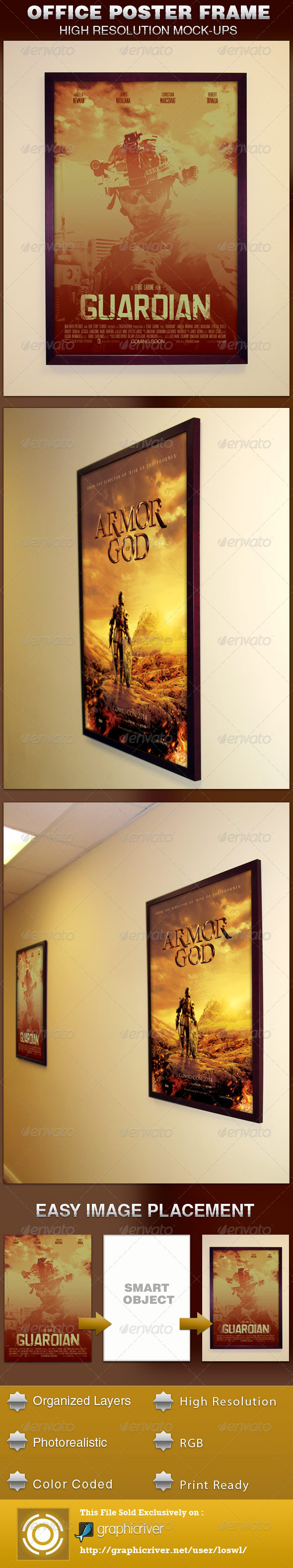 office frame poster mockup template armors armor of god and squares office frame poster mockup template is exclusively on graphicriver it can be used for your posters flyers etc