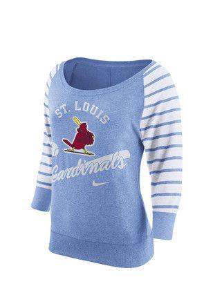 Nike St Louis Cardinals Womens Pin Stripe Vintage Light Blue Crew Sweatshirt Vintage Sweatshirt Vintage Crewneck Sweatshirt Chicago Cubs Womens