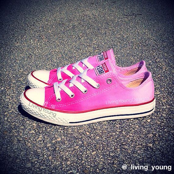 f73e7a634c38b1 Ombre Tie Dye Converse  ombre  tiedye  dipdye  pink  converse  shoes   sneakers  valentines  gift  custom  85