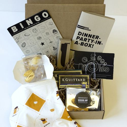 Dinner party in a box via the bold italic 8 unique gift for Ideas for hostess gifts for dinner party