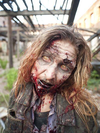 blood-girl-zombie-400 Special fx makeup Pinterest Zombie - zombie halloween ideas