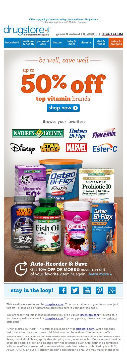 week 21 top vitamin brands 50% off   2015 drugstore emails