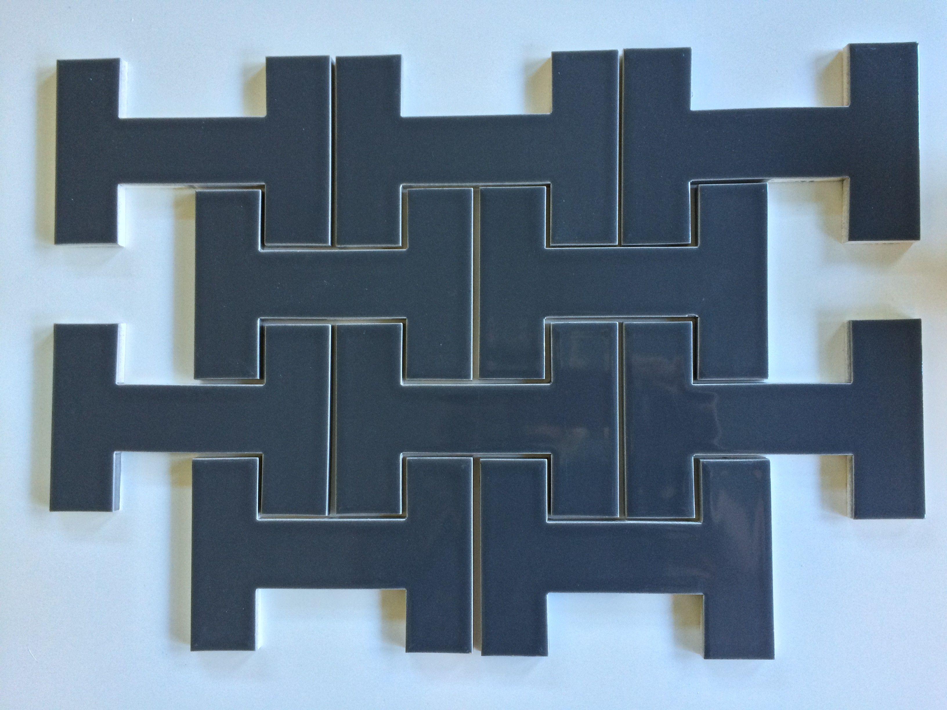 Modwalls Kiln I-Beam Ceramic Tile - Carbon | Barn House Tile and ...