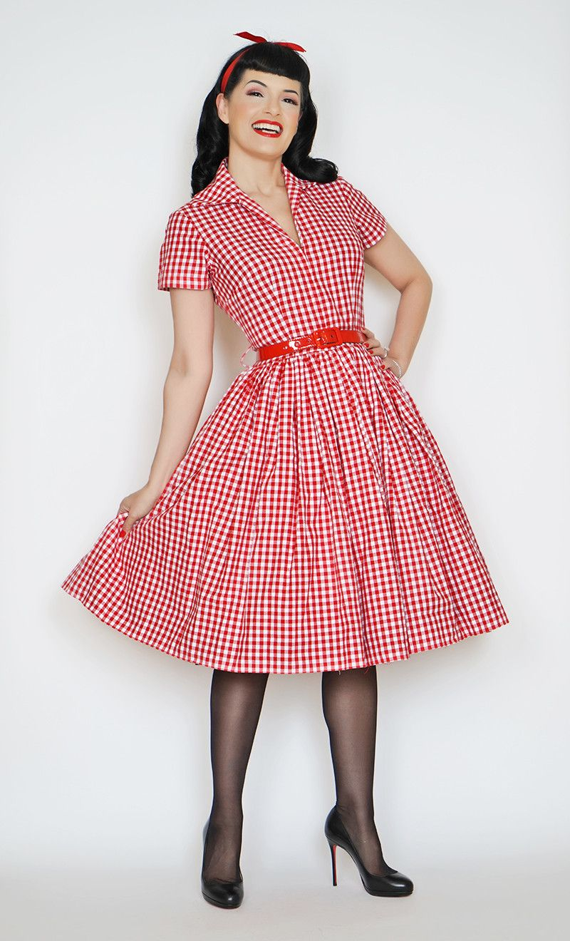 Drive In Dress in red gingham print | Pin up | Pinterest
