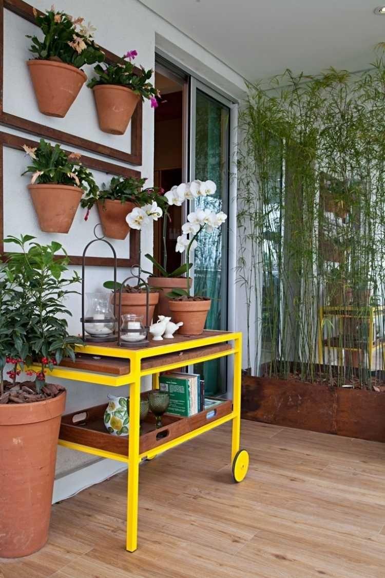 Balkon Sichtschutz Mit Pflanzen Natur Pur Auf Dem Balkon Avec