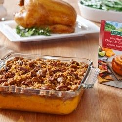 Sweet Potatoes with Spicy Pecan Crumble
