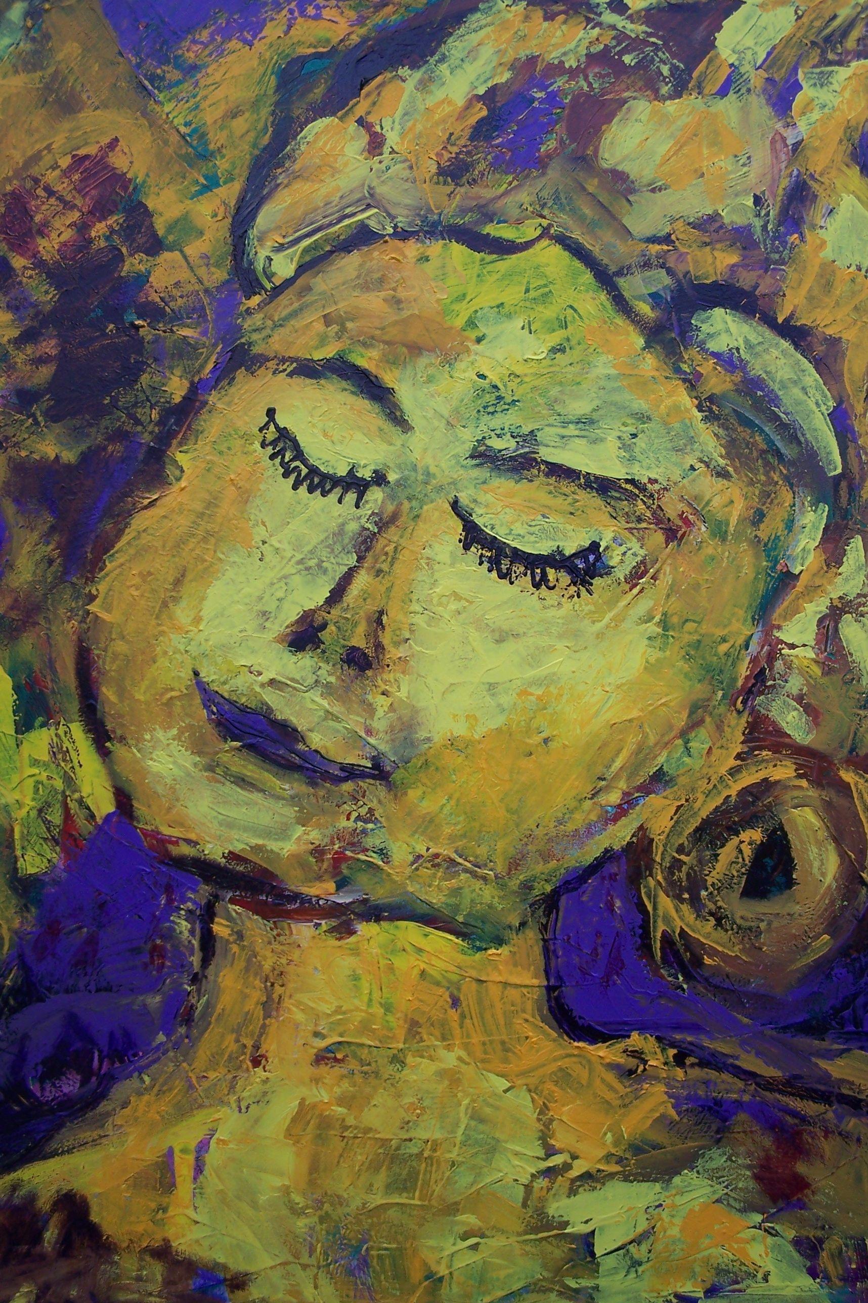 "acryl schildering 80x100, ""Hartverwarmend"" van Marian Filarski"