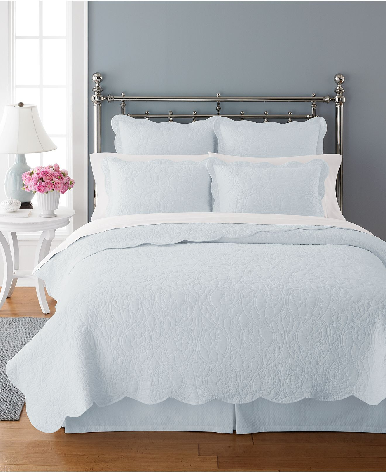 Martha Stewart Collection Bedding Damask Trace Quilts Bedding
