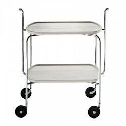 Transit 雙層折疊滾輪餐車(白)