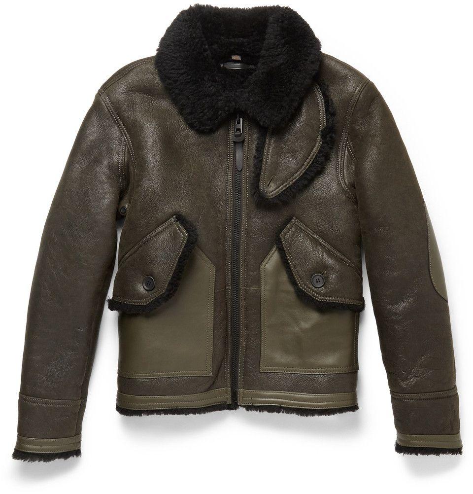 Coach Leather Trimmed Shearling Bomber Jacket Mr Porter Coach Jacket Woman Designer Bomber Jacket Winter Fashion Coats [ 1002 x 960 Pixel ]