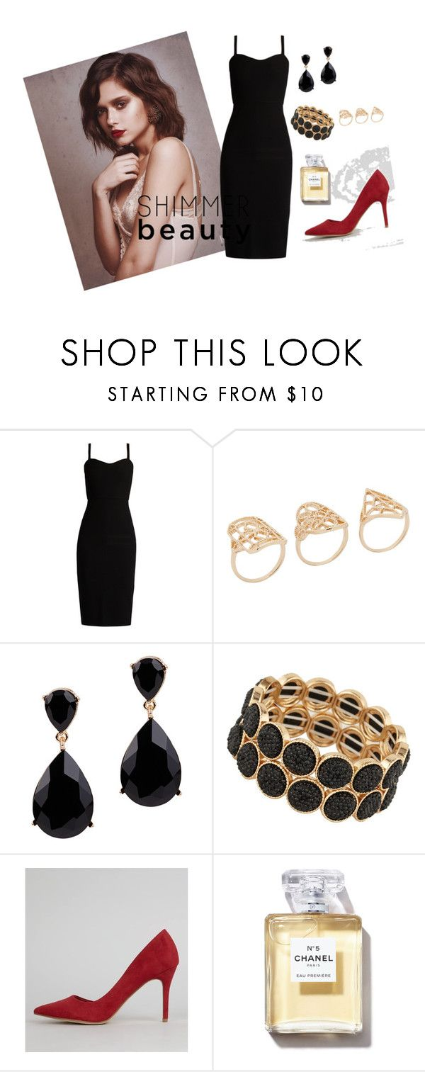 """""""sexy evening look"""" by marwah93 ❤ liked on Polyvore featuring MaxMara, ALDO, New Look, NightOut, blackdress and redhills"""