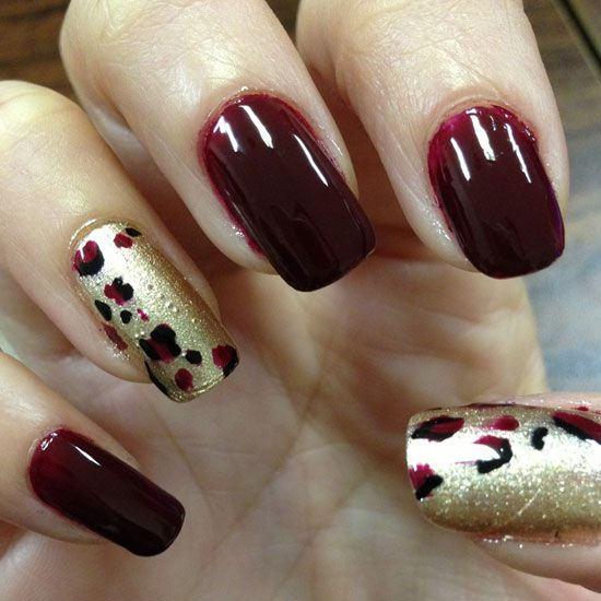 Nail Art Marron Simple: Burgundy Maroon Nails Design - Google Search