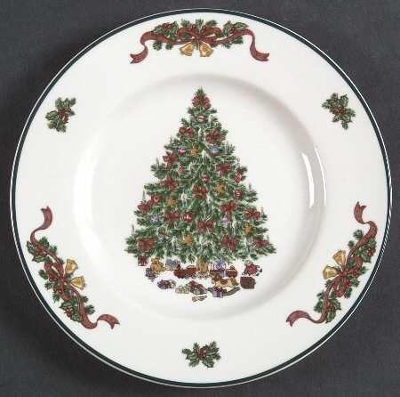 Your Favorite Brands Christmas Dinnerware Overstocks Salad Plate & Your Favorite Brands Christmas Dinnerware Overstocks Salad Plate ...