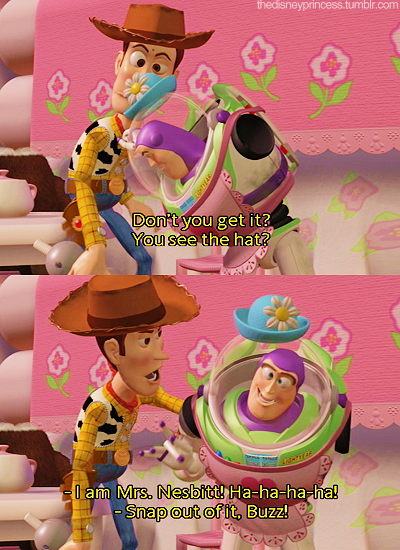 Good Ole Mrs. Nesbitt. This was the best part of Toy Story ...
