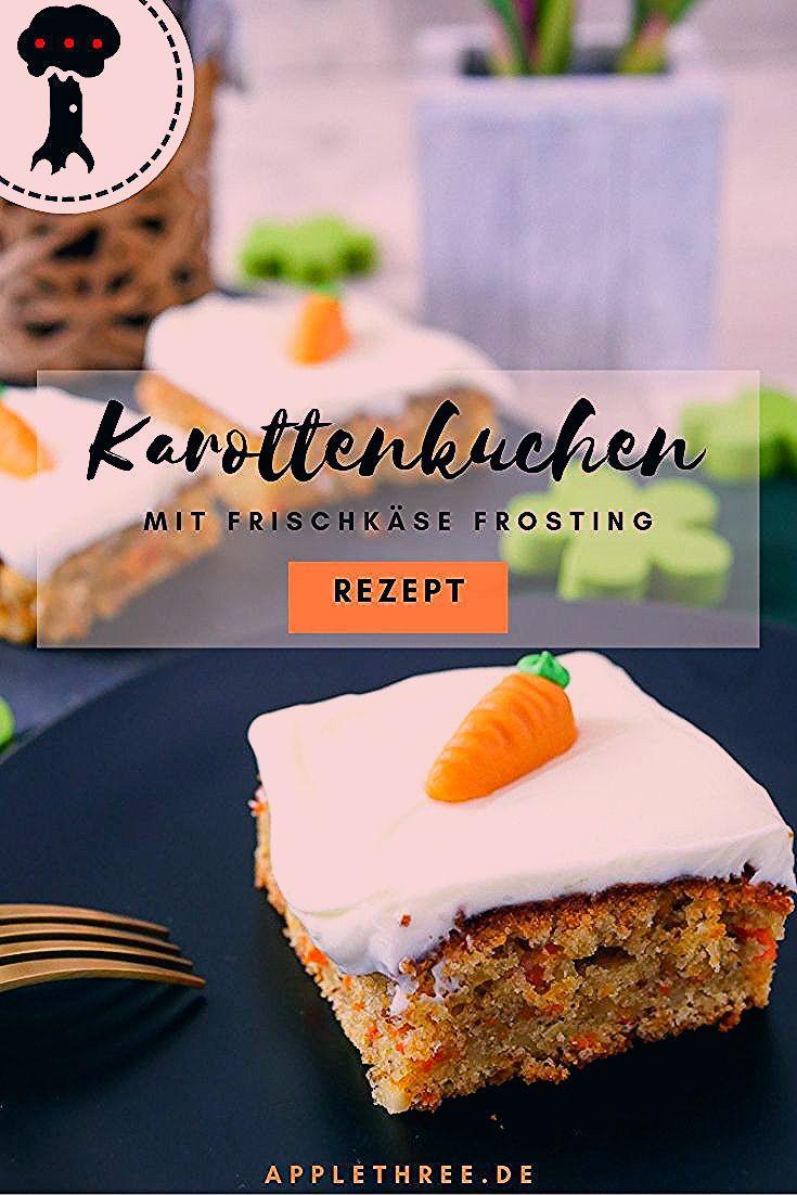 Karottenkuchen Rezept mit Frischkäse - Applethree   Food, Travel & Life