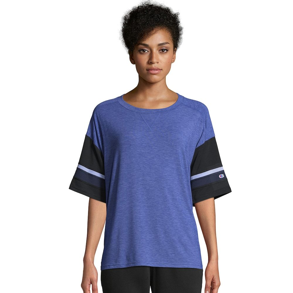 d7fdf05cb83b Women's Champion Gym Issue Football Tee, Size: Medium, Med Blue in ...