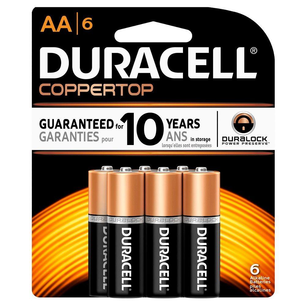 Duracell Coppertop Aa Batteries 6 Pack Alkaline Battery In 2021 Duracell Alkaline Battery Batteries