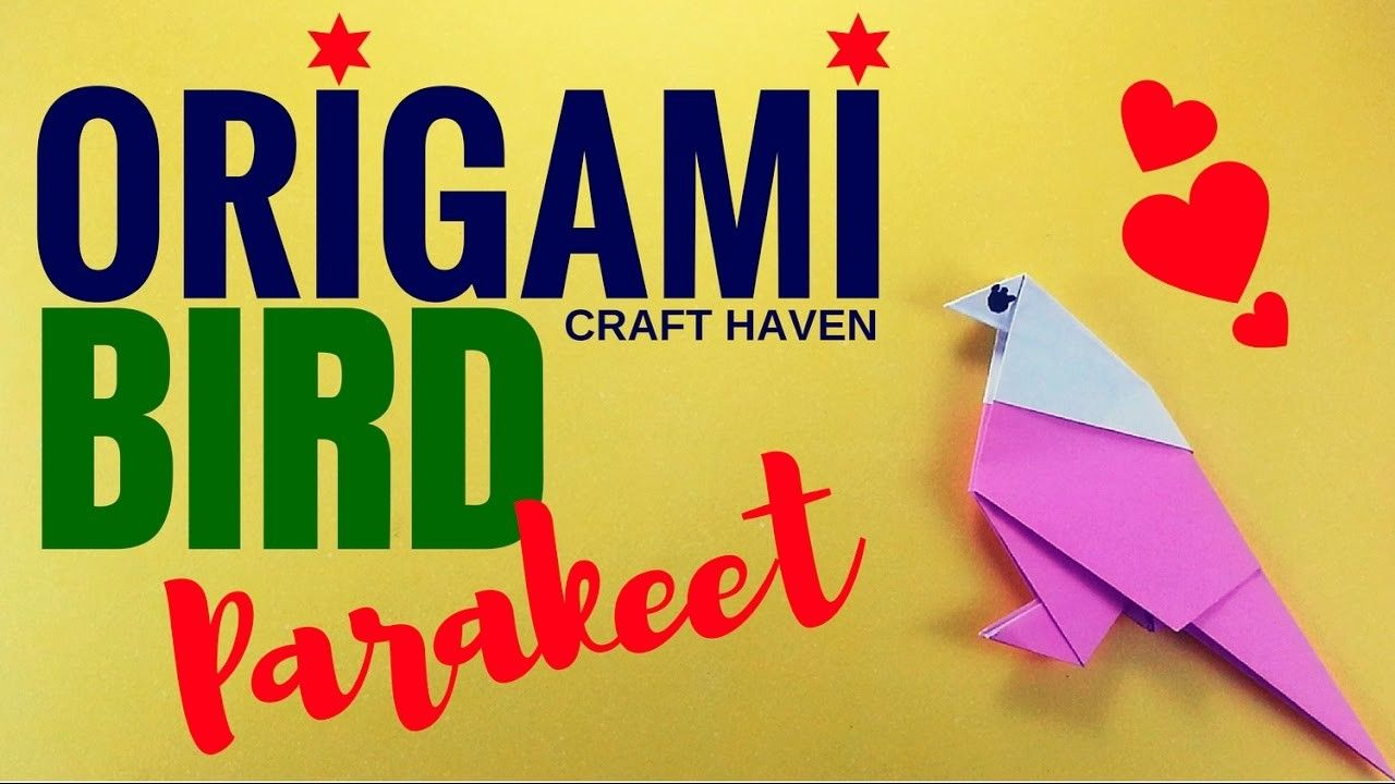 How to make an origami parakeet easy origami bird for kids how to make an origami parakeet easy origami bird for kids origami animal for jeuxipadfo Gallery