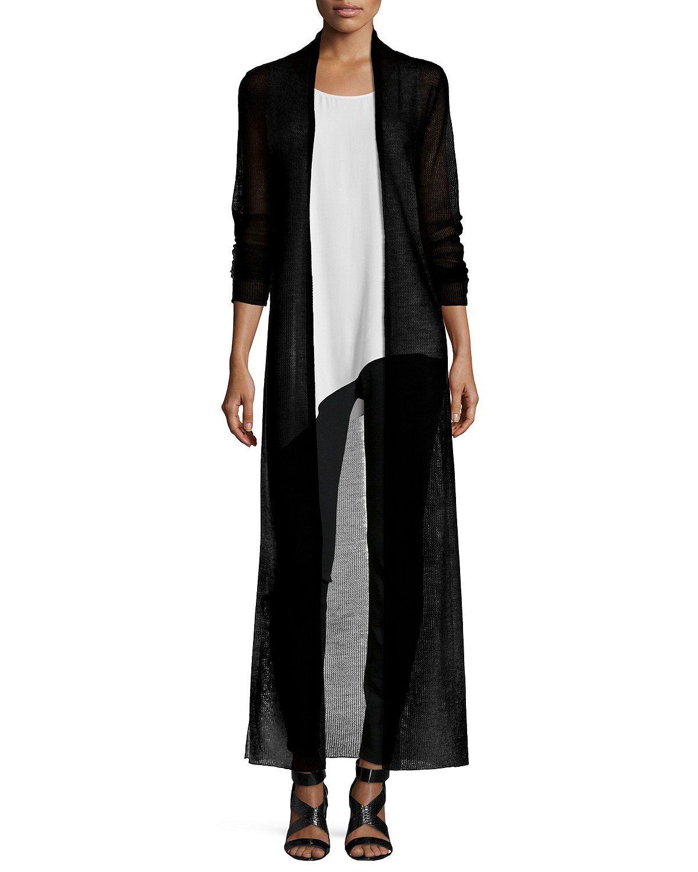 Washable Wool Mesh Maxi Cardigan, Women's | Style | Pinterest ...