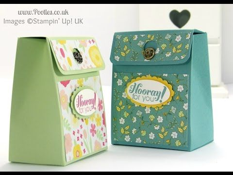 Pinch Close Flat Topped Box Tutorial